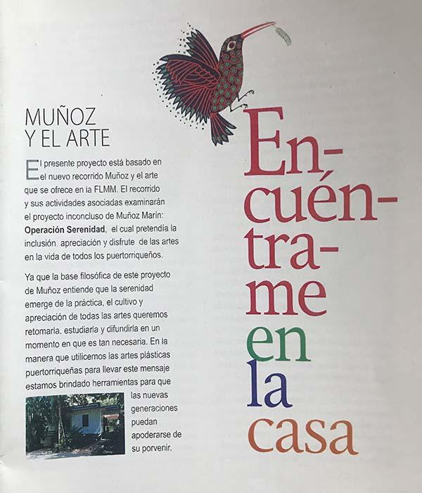 Muñoz y el arte