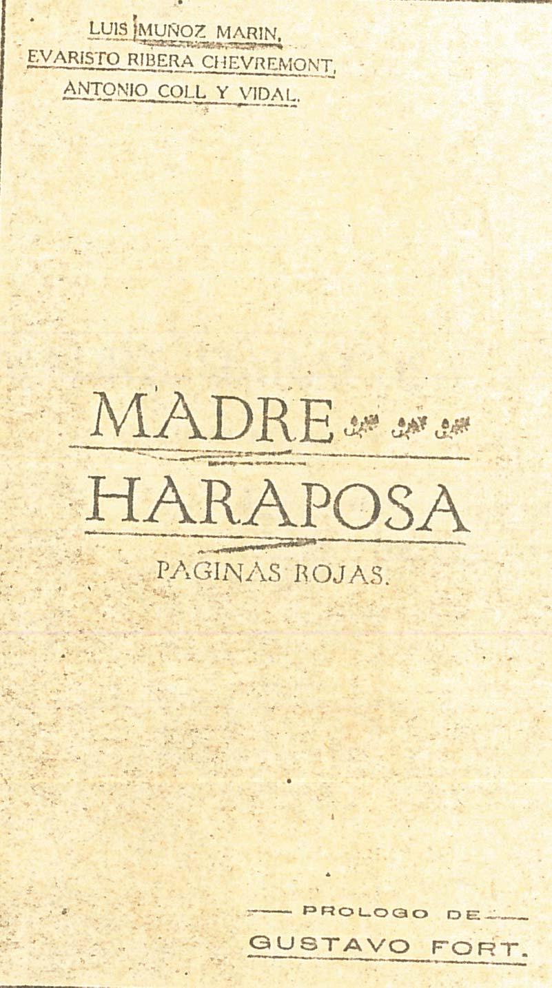 1918 - Portada Madre Haraposa