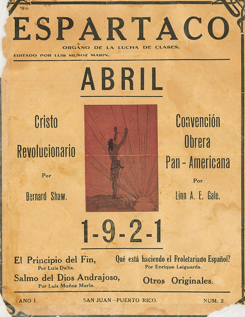 1921 - Portada revista Espartaco