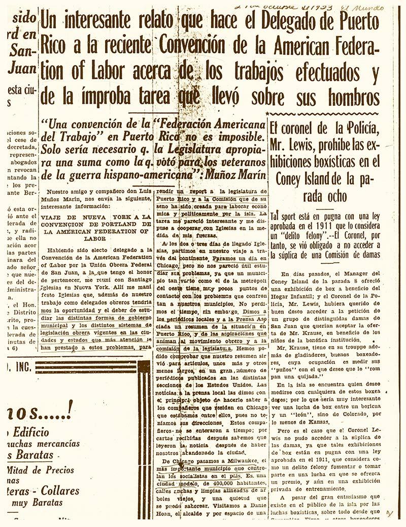 1923 - RP sobre LMM en Portland