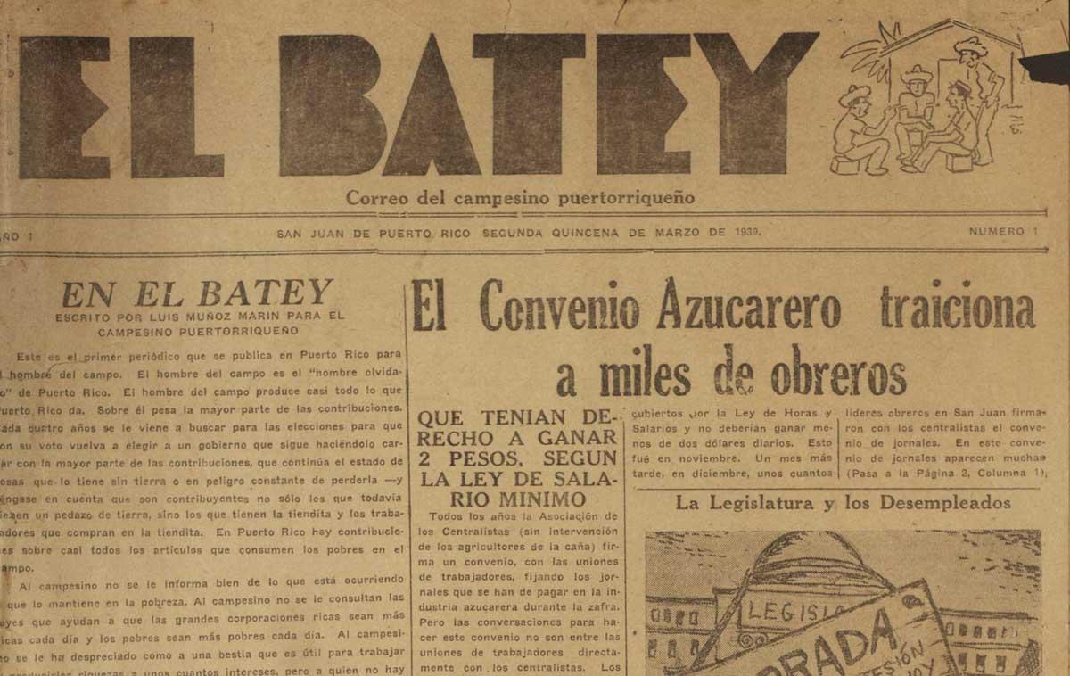1939 - Periodico El Batey