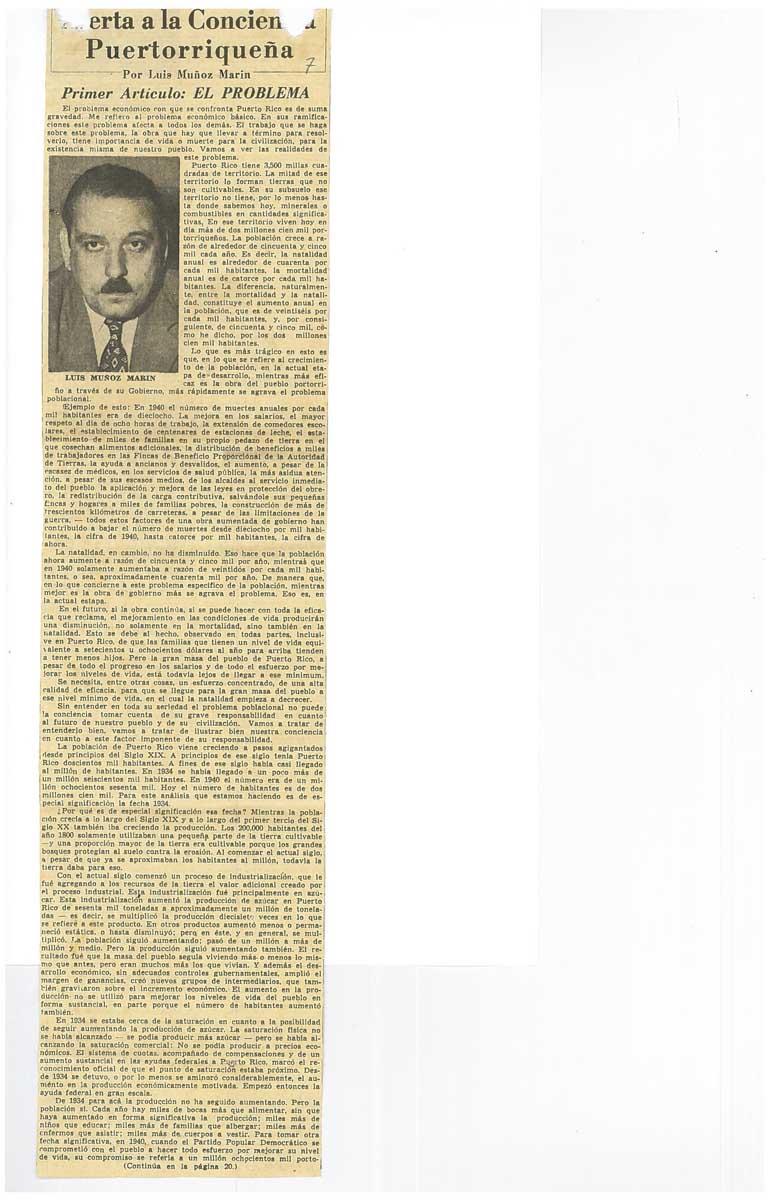 1946 - Alerta a la Conciencia puertorriqueña #1